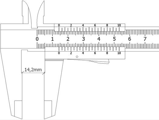 Suwmiarka - jak mierzyc (14,2 mm)